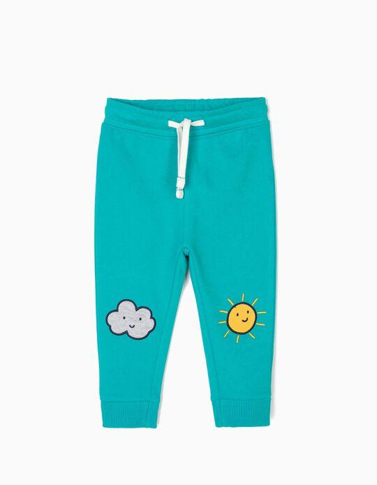 Pantalón de Chándal para Bebé Niño 'Sun & Cloud', Azul