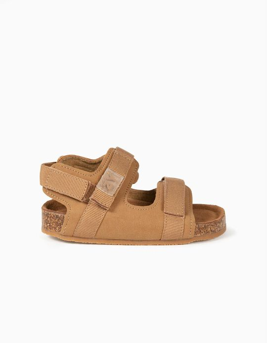 Sandales bébé garçon, Camel