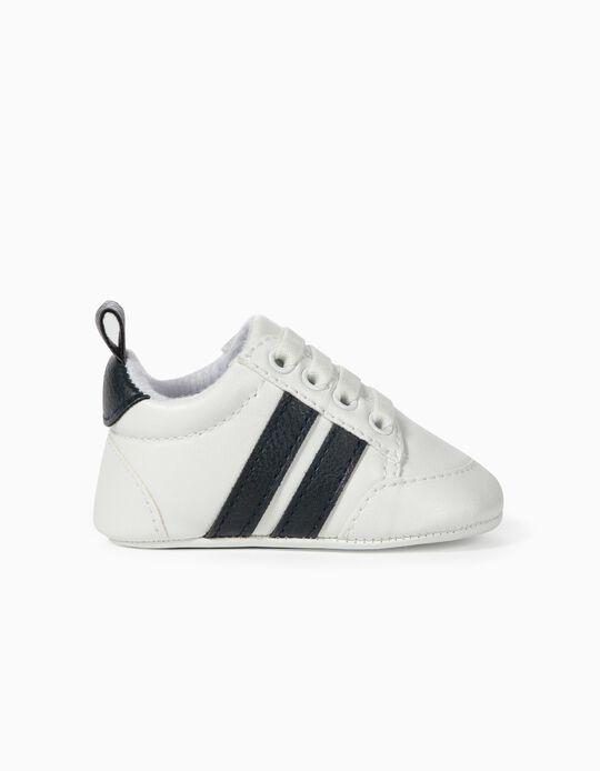 Zapatillas para Recién Nacido a 'Rayas', Blanco