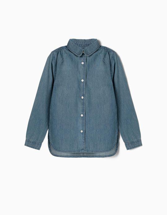 Camisa Denim para Niña, Azul
