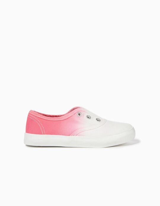 Zapatillas Slip-on para Niña 'Degradado', Blanco y Rosa