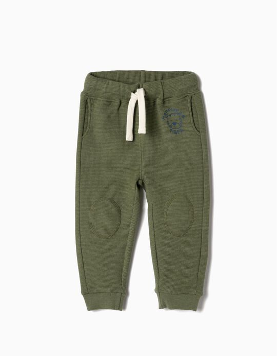 Joggers for Baby Boys 'Hapiness Tiger', Green