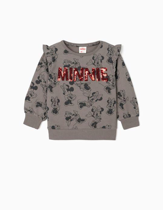 Sweatshirt para Menina 'Minnie', Cinza