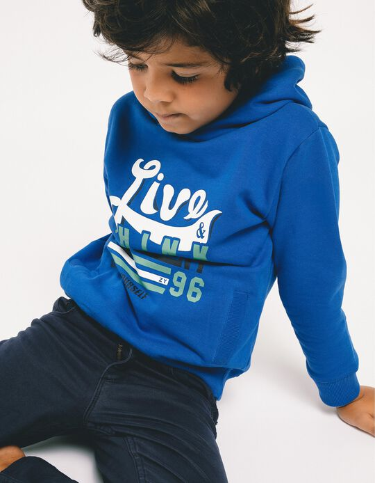 Sudadera con Capucha para Niño 'Think Different', Azul