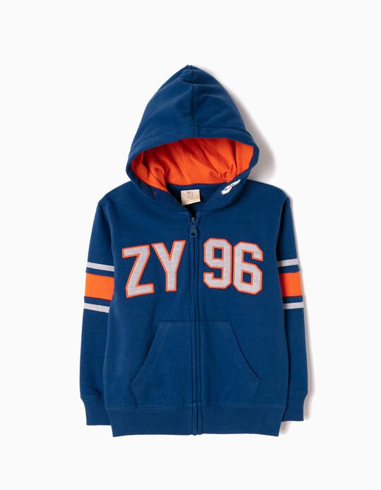 Chaqueta de Felpa Azul ZY 96