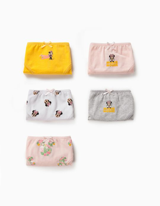 5 Braguitas para Niña 'Minnie Mouse', Multicolor