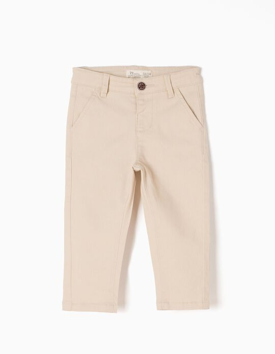 Chino Trousers for Baby Boys, Beige