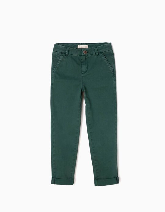 Calças Menino Chino Verde