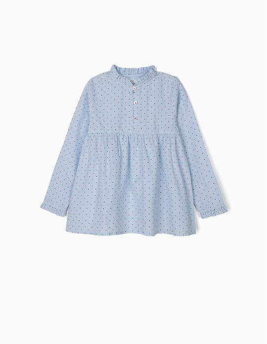 Blusa para Niña con Lacitos, Azul