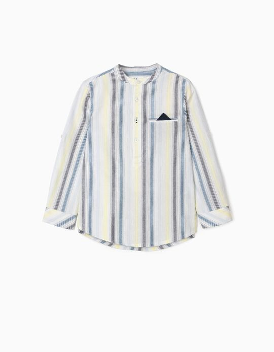 Striped Shirt for Boys, Multicoloured