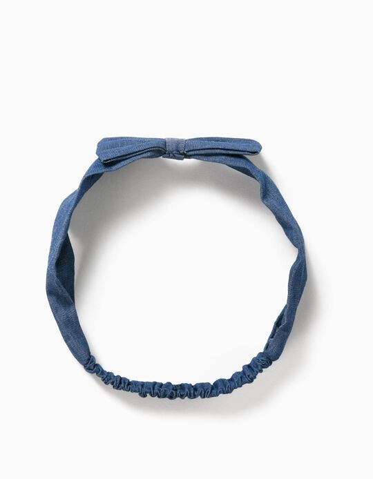 Denim Hairband for Girls, Blue