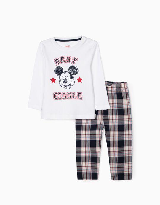 Pyjama Bébé Garçon 'Mickey', Blanc/Rouge/Bleu