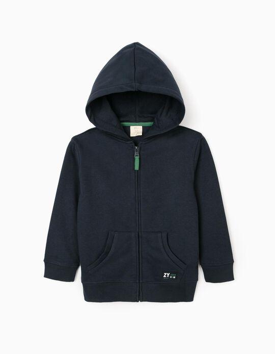Hooded Jacket for Boys 'ZY 96', Dark Blue