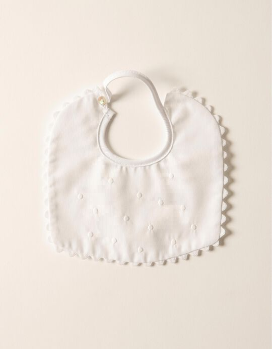1 Babete Clássico Zy Baby Branco