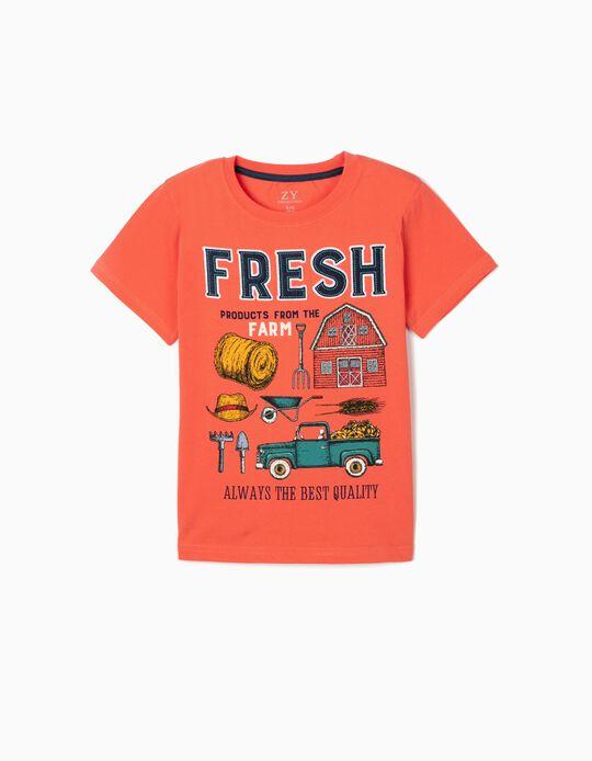 Camiseta para Niño 'Fresh', Coral