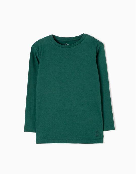 Camiseta de Manga Larga Verde