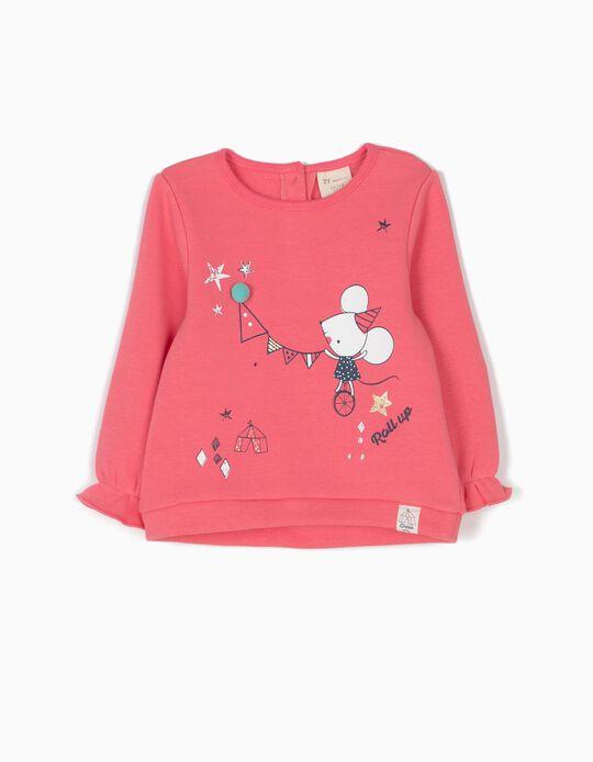 Sweatshirt Circus com Pompom Rosa