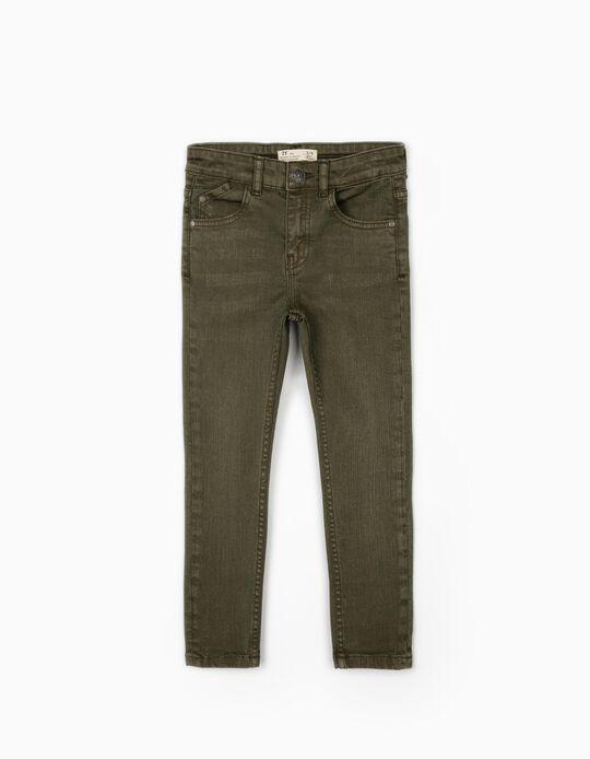 Pantalón de Sarga para Niño, Verde