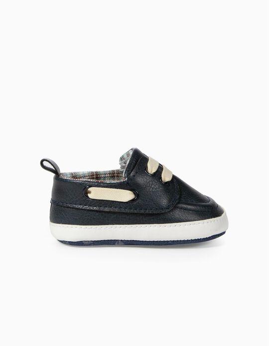 Sapatos para Recém-Nascido, Azul Escuro