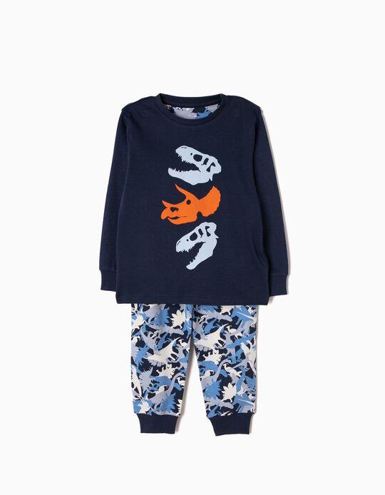Pijama de Manga Larga y Pantalón Dinosaurios