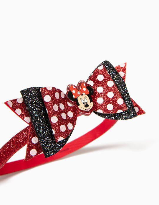 Diadema para Niña 'Minnie' Lacitos, Roja