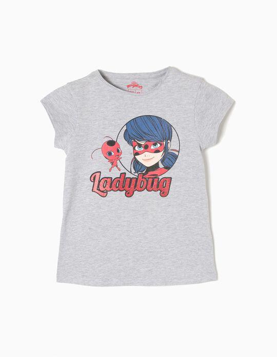 T-shirt Ladybug Miraculous Cinzenta