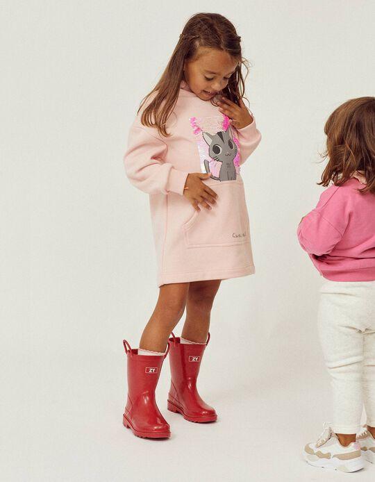 Vestido para Menina 'Cute Rebel', Rosa