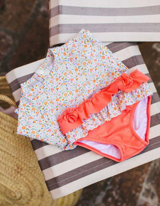 Cuecas de Banho Proteção UV 60 para Bebé Menina, Coral