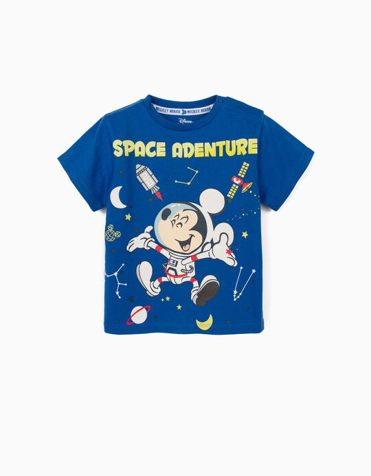 T-shirt for Baby Boys, 'Mickey Mouse Space Adventure', Blue