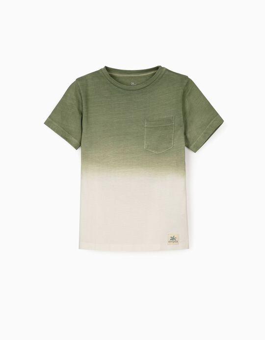 T-shirt para Menino 'Ancient Egypt', Verde/Branco