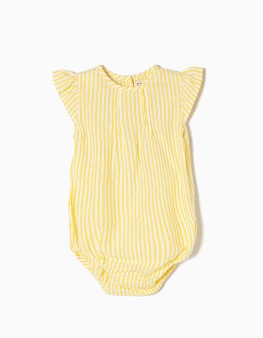 Body Riscas Amarelo