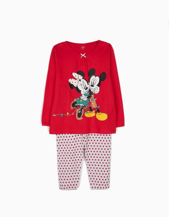 Pijama Manga Comprida e Calças Disney Christmas