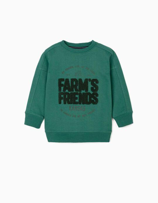 Sudadera para Niño 'Farm's Friends', Verde