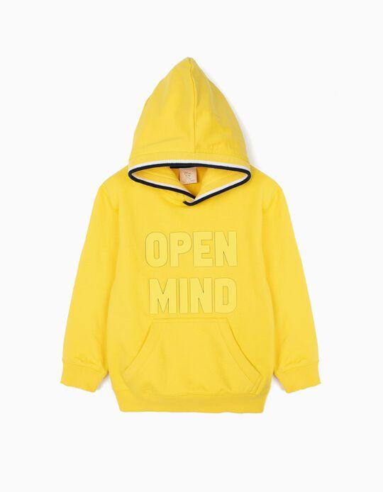 Sudadera con Capucha para Niño 'Open Mind', Amarillo