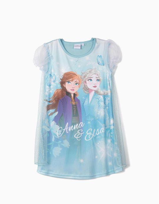 Camisa de Dormir para Menina com Capa 'Frozen II', Azul
