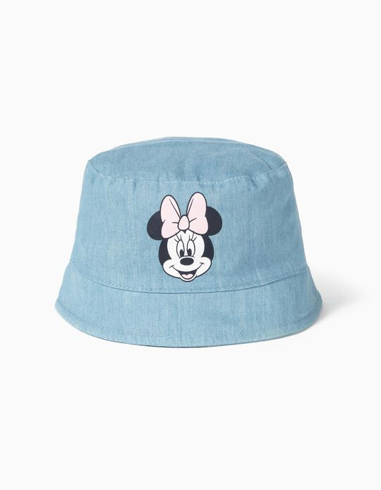 Denim Hat for Baby Girls 'Minnie', Light Blue