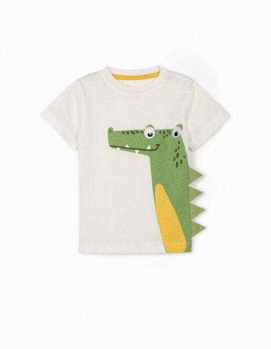 Camiseta para Bebé Niño 'Croc', Blanca