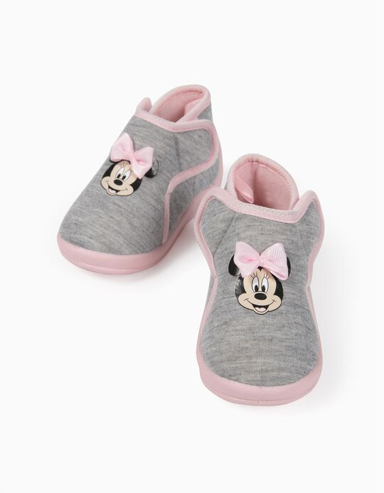 Slippers for Baby Girls, 'Minnie Mouse', Grey