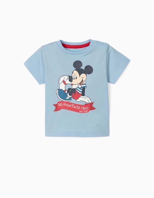 T-shirt nouveau-né 'Mickey Sailor', bleu clair