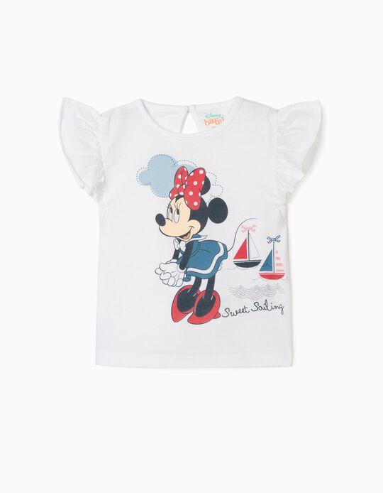 T-shirt nouveau-née 'Minnie Sweet Sailing', blanc
