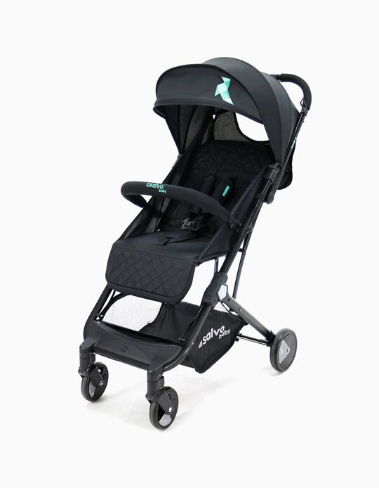 Stroller Travel Asalvo Black Aqua