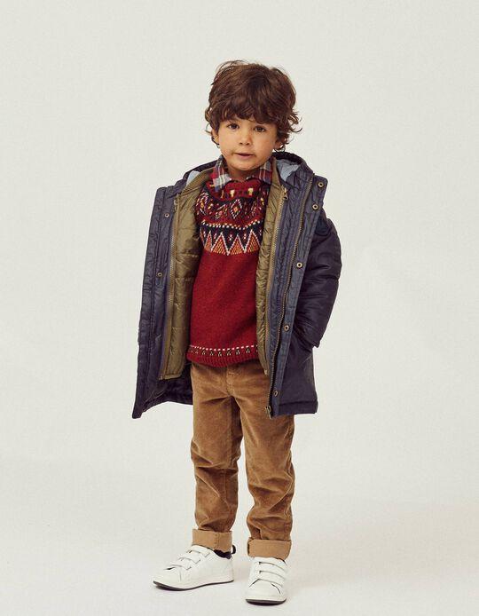 3-in-1 Jacket for Boys, Dark Blue/Brown