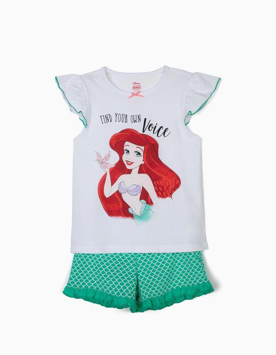 Pijama para Niña 'Little Mermaid', Blanco y Verde