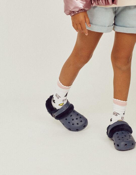 Chanclas 'Clogs' con Forro para Niño/a, Azul Oscuro