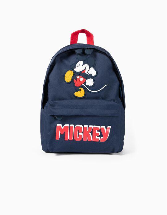 Mochila para Menino 'Mickey', Azul Escuro e Vermelho