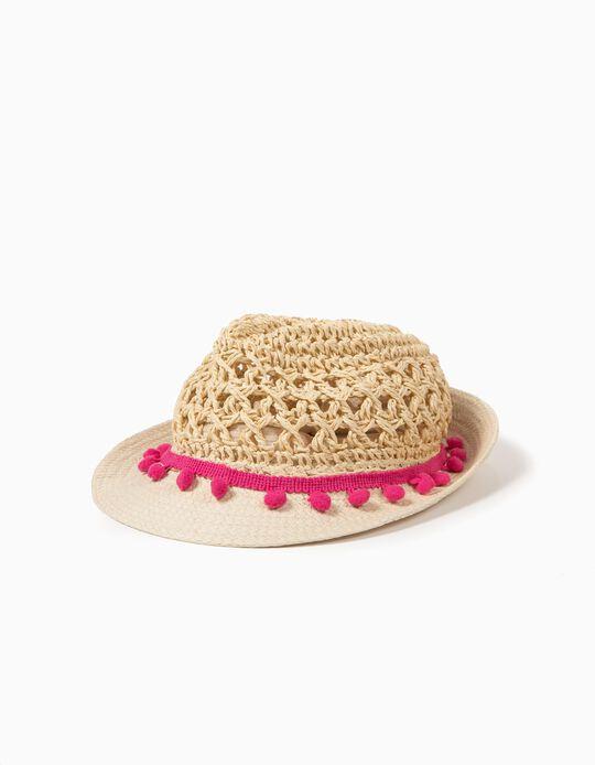 Sombrero de Paja PomPón