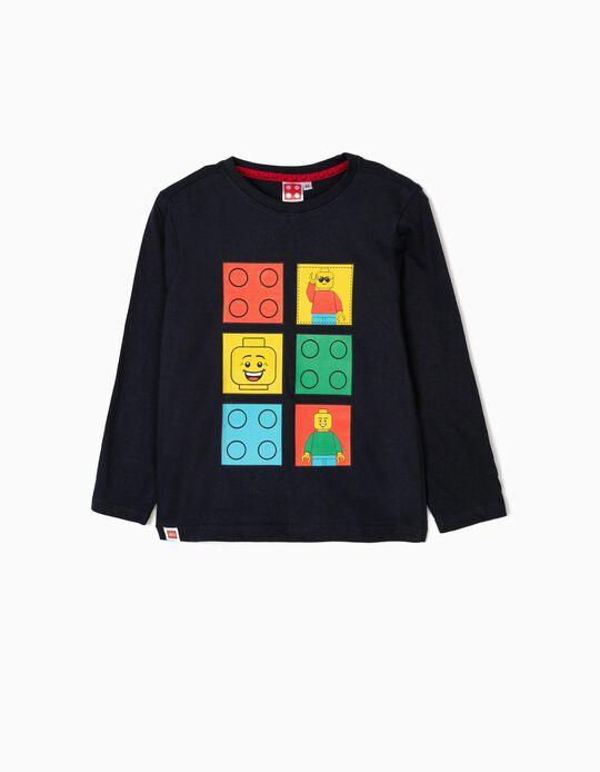 T-shirt Manga Comprida para Menino 'Lego Play', Azul Escuro
