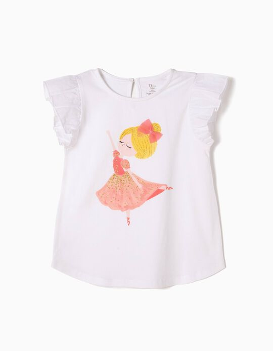 Camiseta Estampada Bailarina