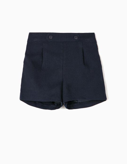 Short para Bebé Niña 'B&S', Azul Oscuro