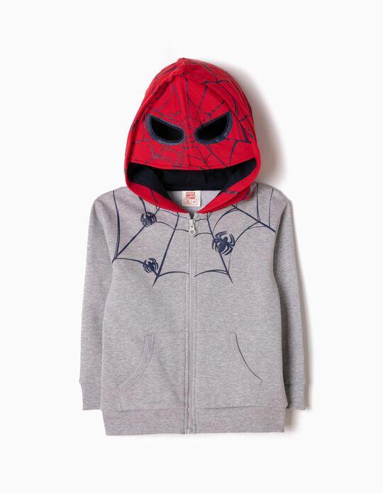 Chaqueta de Felpa con Capucha-Máscara Spider-Man